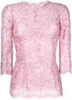 Dolce & Gabbana floral lace blouse - women - Silk/Cotton/Polyamide/Viscose - 40