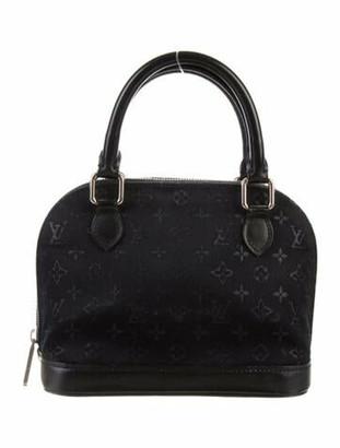 Louis Vuitton Monogram Satin Mini Alma Black