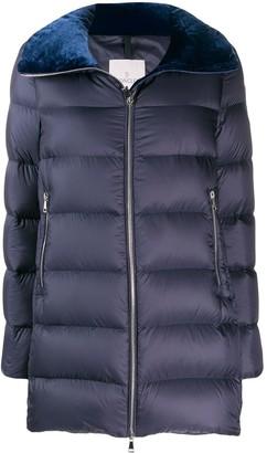 Moncler velvet collar padded jacket