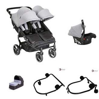 My Child Easy Twin Double Stroller + Car Seat + Car Seat Adapter Upper + Car Seat Adapter Lower + Main Carrycot + Second Carrycot