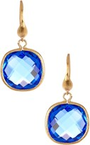 Rivka Friedman Poppy Crystal Cushion Dangle Earrings