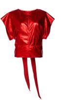 Isabel Marant Daren Leather Belted T-Shirt