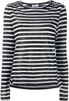 Frame Long Sleeve Tee - Black & White