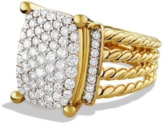 David Yurman Wheaton Ring with Diamonds in Gold