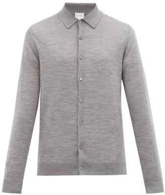 Paul Smith Knitted Merino Wool Cardigan - Mens - Grey