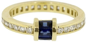 Retrouvaí 14kt yellow gold diamond Channel Barrel band ring