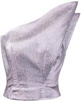 Vika Gazinskaya metallic one shoulder top - women - Polyester/Silk - 36