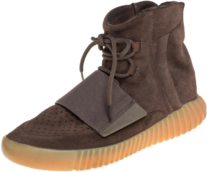 Yeezy x Adidas Brown Suede 750 High Top Sneaker Size 41 1/3