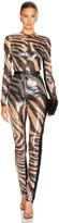 David Koma Sequined Jumpsuit in Nude & Print | FWRD