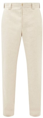 Jacquemus Wide-leg Wool-blend Trousers - Beige