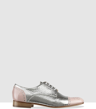 Habbot. Women's Silver Brogues & Loafers - Nara Derby Lace-Ups - Size One Size, 38 at The Iconic