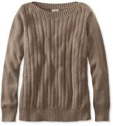 L.L. Bean Chevron Cable Sweater, Boatneck Pullover