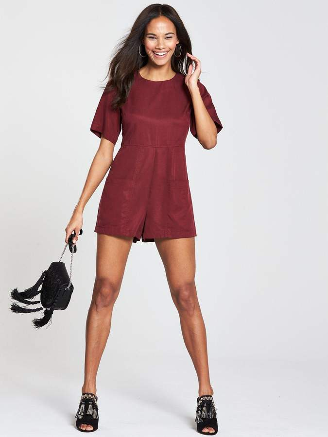 NATIVE YOUTH Playsuit - Red