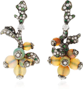 Arunashi One-Of-A-Kind Opal And Tsavorite Earrings