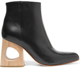Marni Cutout Leather Ankle Boots - Black