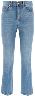 Tory Burch marble cropped boot jeans