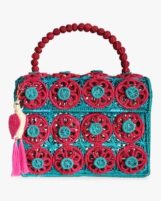 Mercedes Salazar Amanecer Woven Parrot Handbag
