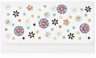 Dune London Betula Flower Embroidered Clutch Bag