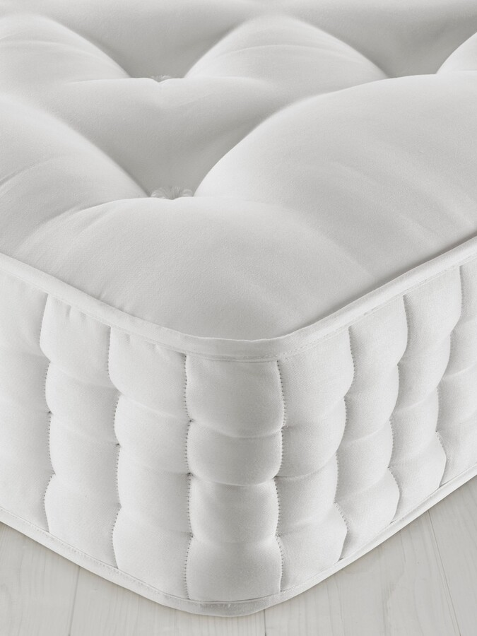 John Lewis & Partners Natural Collection Wensleydale Wool 13400, Small Double, Medium Tension Pocket Spring Mattress