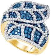 DazzlingRock Collection 2 Total Carat Weight BLUE DIAMOND FASHION RING