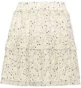 See by Chloe Ruffled Pleat Print Skirt