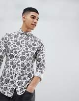 Asos Skinny Fit Shirt In Floral Print