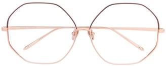 Linda Farrow Hexagonal Frame Optical Glasses