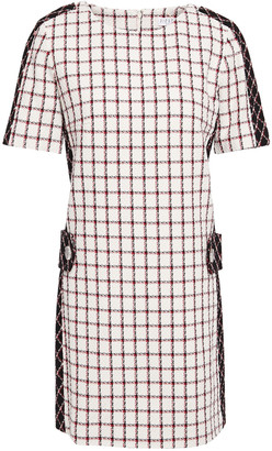 Claudie Pierlot Checked Cotton-blend Tweed Mini Dress