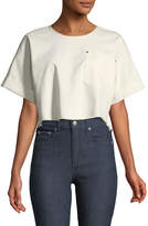 Elizabeth and James Tinsley Oversized Short-Sleeve Denim Top
