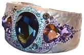 Swarovski Crystal PONY BANGLE Cuff Ocean Blue & Purple Crystals 1110336