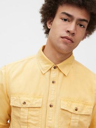 Gap Linen-Cotton Utility Shirt Jacket