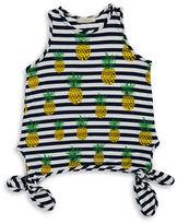 Soprano Girls 7-16 Girls Pineapple Side Tie Tank