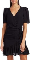 Thumbnail for your product : Parker Krislyn Ruffled Silk Mini A-Line Dress