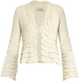 Alex Gore Browne Ruffle V-neck silk jacket