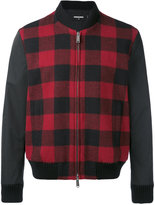DSQUARED2 tartan bomber jacket - men - Cotton/Polyester/Wool - 48