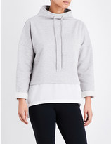 French Connection Layered cotton-jersey sweatshirt