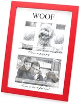 Bed Bath & Beyond Red Wood Matted Shadowbox WOOF 4-Inch x 6-Inch Frame
