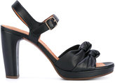 Chie Mihara knot detail platform sandals - women - Leather/rubber - 36
