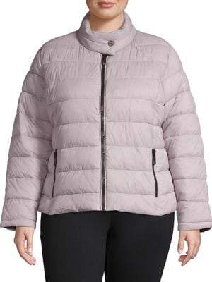 Andrew Marc Plus Super Soft Packable Quilted Coat