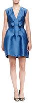 Lanvin Bow-Front Duchess Satin Tulip Dress
