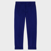 Paul Smith Men's Indigo Cotton And Linen-Blend Tapered Trousers