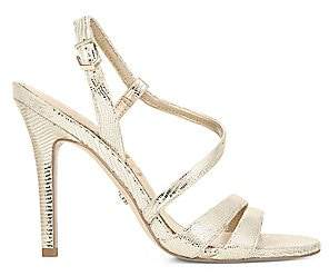 Sam Edelman Women's Alisandra Metallic Leather Strappy Sandals