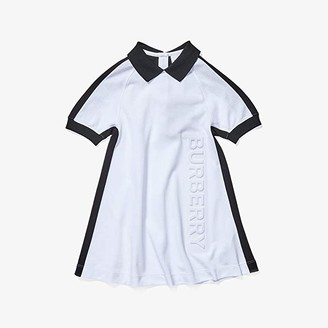 Burberry Stacey Dress (Little Kids/Big Kids) (White) Girl's Clothing