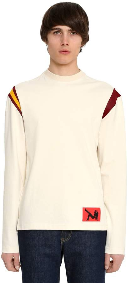 Calvin Klein Cotton Jersey Long Sleeve T-Shirt
