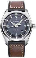 Eterna Men's KonTiki 42mm Brown Leather Band Steel Case Automatic Dial Analog Watch 1222-41-41-1301