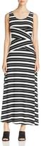 Calvin Klein Stripe Crisscross Maxi Dress