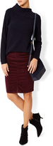 Monsoon Katya Stretch Short Velvet Skirt
