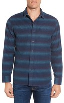 Grayers Lewellyn Slim Fit Striped Flannel Sport Shirt