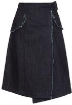Tomas Maier Oversized-pockets wrap denim skirt
