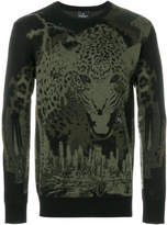 Marcelo Burlon County of Milan leopard intarsia knit jumper
